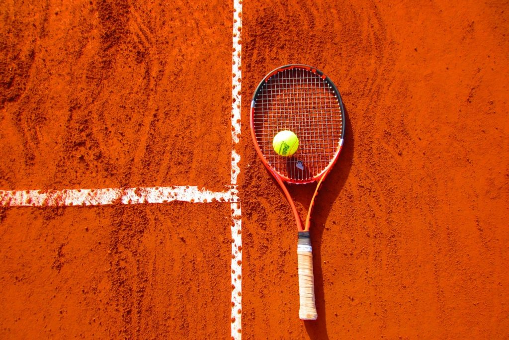 tennis ball tennis racket